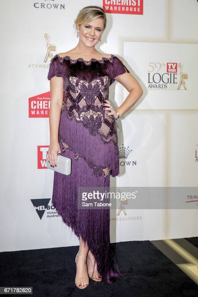 Harriet Dyer arrives at the 59th Annual Logie Awards at Crown Palladium on April 23 2017 in Melbourne Australia