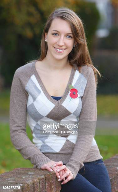 Harriet Phipps who works as a 'model' at the Hollister store in Southampton Hampshire and has been banned from wearing a poppy to work because 'it...