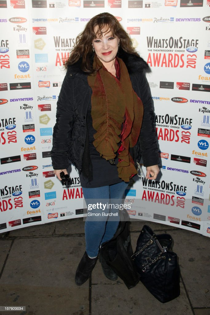 Harriet Thorpe attends the Whatsonstage.com Theare Awards nominations launch at Cafe de Paris on December 7, 2012 in London, England.