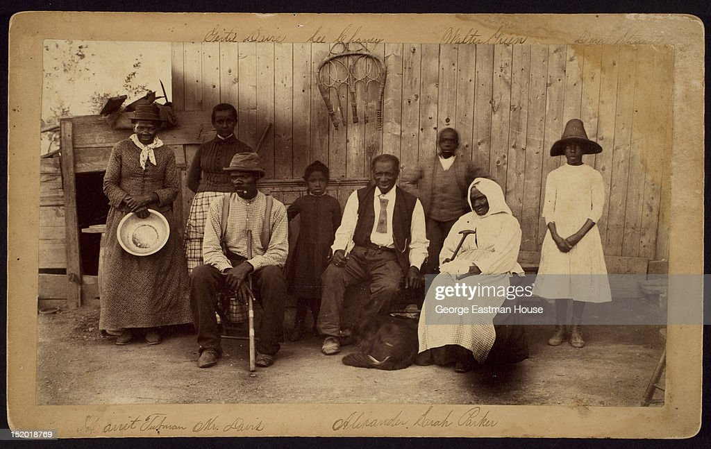 Harriet Tubman at home and her friends, residents of the Home for the Aged and Indigent Negroes, Auburn, New York, 1887.