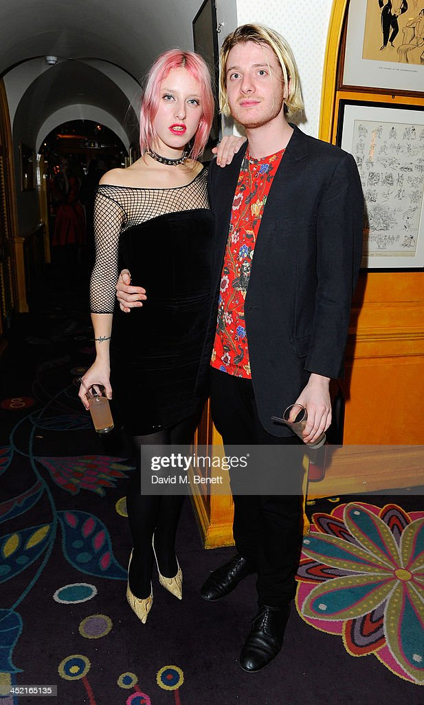 Harriet Verney and Dominic Jones attend Veuve Clicquot Style Party at Annabel's on November 26, 2013 in London, England.