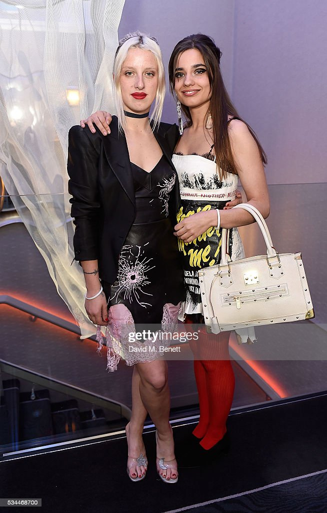 Harriet Verney and Mimi Wade arrive at the WGSN Futures Awards 2016 on May 26, 2016 in London, England.