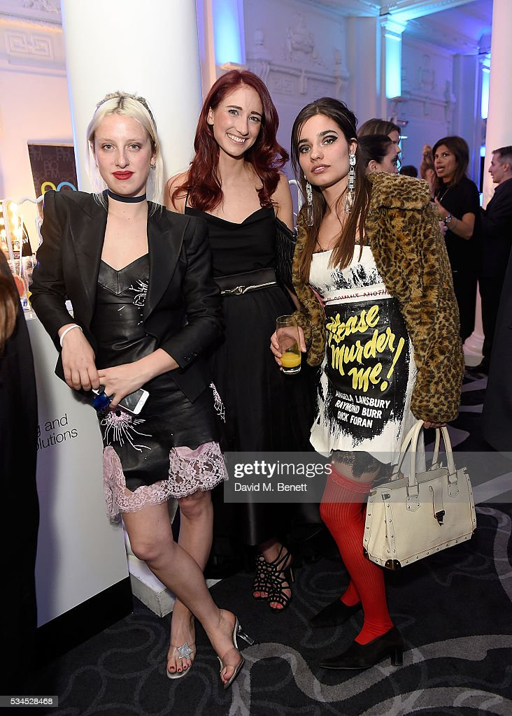 Harriet Verney, Hannah White and Mimi Wade attend the WGSN Futures Awards 2016 on May 26, 2016 in London, England.
