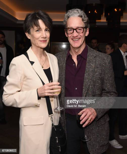 Harriet Walter and Guy Paul attend a gala screening of 'Mindhorn' at the May Fair Hotel on April 20 2017 in London England