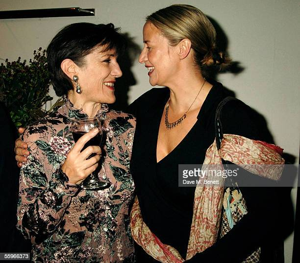 Harriet Walter and Janet McTeer attend the aftershow party following the west end transfer and press night for 'Mary Stuart' at the Century Club on...