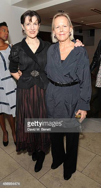 Harriet Walter and Phylida Lloyd attend an after party following the press night performance of 'Henry IV' playing at The Donmar Warehouse at The...