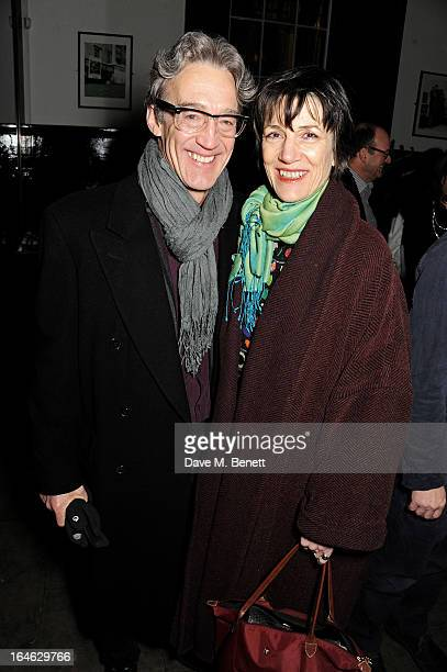 Harriet Walter attends an after party following the press night performance of 'Peter And Alice' at The National Cafe on March 25 2013 in London...