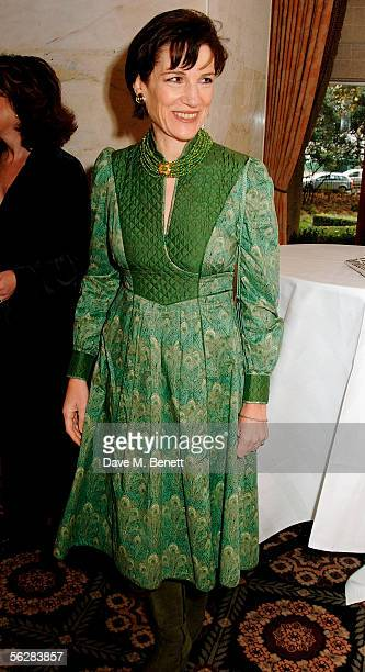 Harriet Walter attends the reception for the Evening Standard Theatre Awards the annual theatrical awards hosted by the London newspaper at The Savoy...