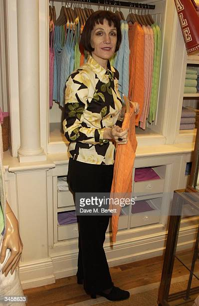 Harriet Walters attends party in aid of charity Barnados at Ralph Lauren's Fulham Road shop on April 22 2004 in London