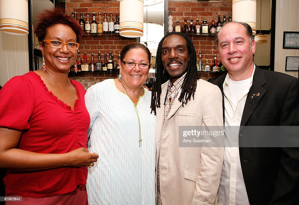 Harriette Cole, Fern Mallis, Kevan Hall and Jeffrey Moss attend a celebration of Ruby Dee's style at Melba's restaurant on June 9, 2008 in New York City.