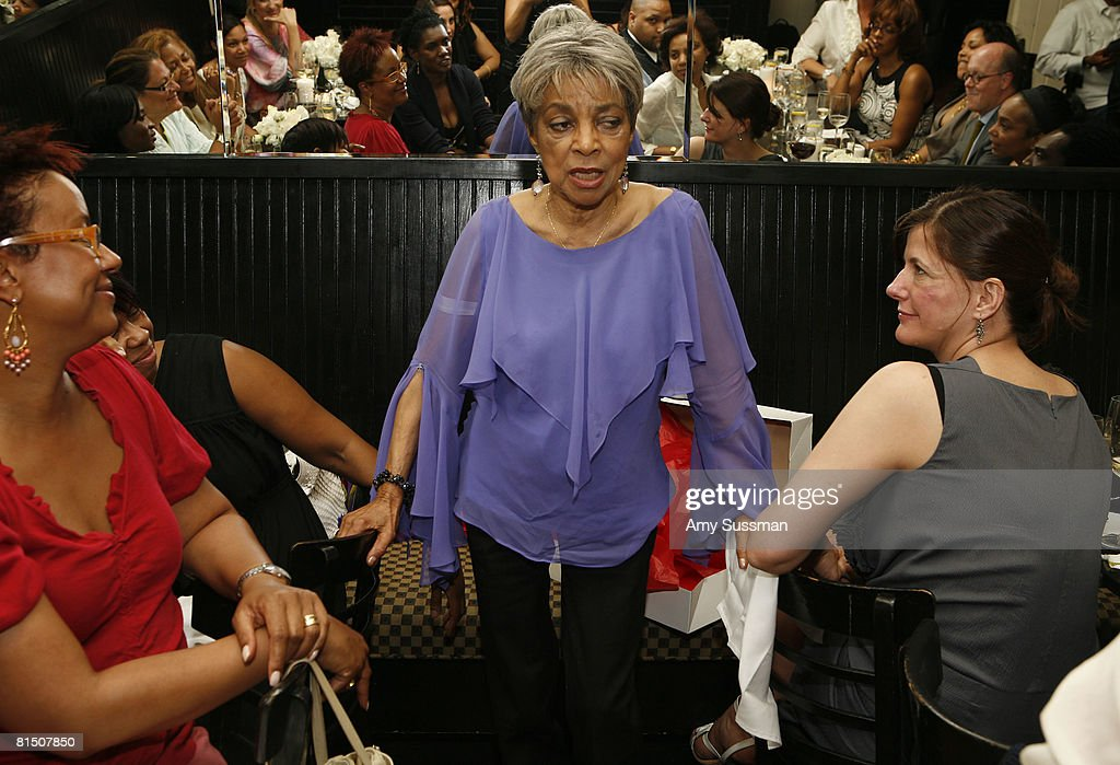 Harriette Cole, Ruby Dee and Bridget Foley attend a celebration of Ruby Dee's style at Melba's restaurant on June 9, 2008 in New York City.