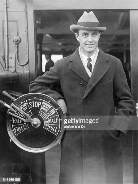 Harriman William Averell *15111891 Diplomat Politician Businessman USA on a ship 1930ies Photo Keystone