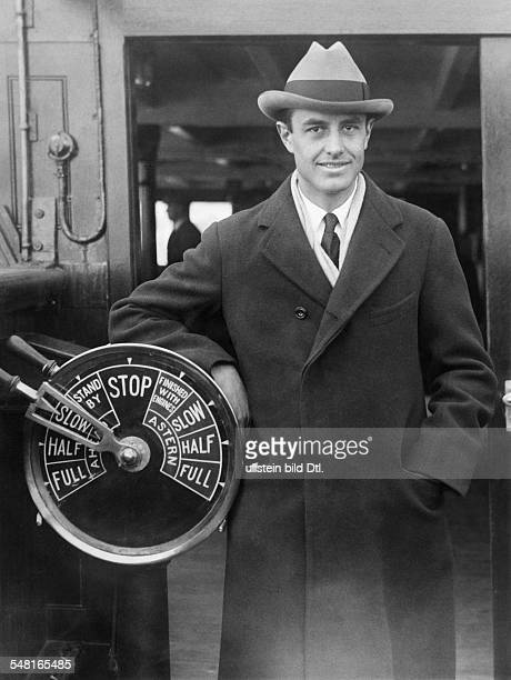 Harriman William Averell *15111891 Diplomat Politician Businessman USA on a ship 1930ies Photo Keystone