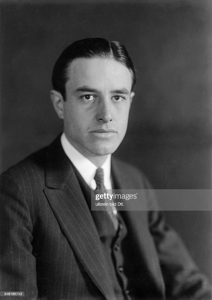 Harriman, William Averell *15.11.1891-+ Diplomat, Politician, Businessman, USA Portrait - around 1930 Photo: Transocean