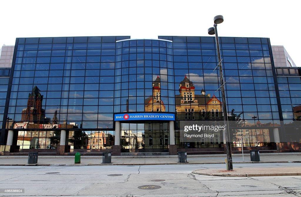 Harris Bradley Center home of the Milwaukee Bucks basketball team on September 20 2014 in Milwaukee Wisconsin