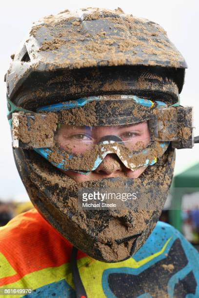 Harris Campbell poses for a portrait following the 85sw race during day two of the HydroGarden Weston Beach Race on October 15 2017 in...