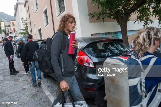 Harris Dickinson interprets young Paul Getty in Civita Calabria on the second set of Danny Boyle's Trust movie with Donald Sutherland and Hilary...