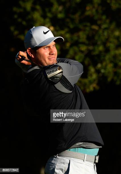 Harris English plays his shot from the fifth tee during the second round of the Safeway Open at the North Course of the Silverado Resort and Spa on...