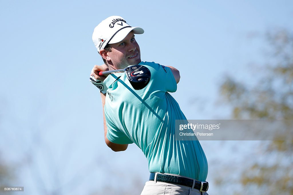 <a gi-track='captionPersonalityLinkClicked' href=/galleries/search?phrase=Harris+English&family=editorial&specificpeople=7754798 ng-click='$event.stopPropagation()'>Harris English</a> tees off on the ninth hole during the third round of the Waste Management Phoenix Open at TPC Scottsdale on February 6, 2016 in Scottsdale, Arizona.