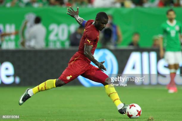 Harrison Afful of Ghana kicks the ball during the friendly match between Mexico and Ghana at NRG Stadium on June 28 2017 in Houston Texas