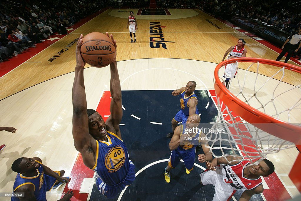 <a gi-track='captionPersonalityLinkClicked' href=/galleries/search?phrase=Harrison+Barnes&family=editorial&specificpeople=6893973 ng-click='$event.stopPropagation()'>Harrison Barnes</a> #40 of the Golden State Warriors grabs the rebound against the Washington Wizards on December 8, 2012 at the Verizon Center in Washington, DC.