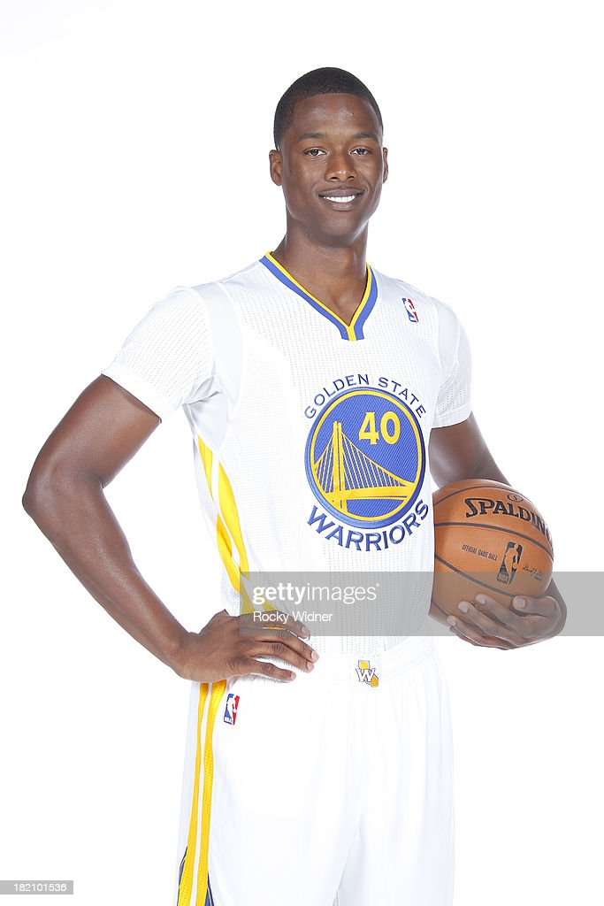 Harrison Barnes #40 of the Golden State Warriors poses for a portrait during 2013 NBA Media Day on September 27, 2013 in Oakland, California.