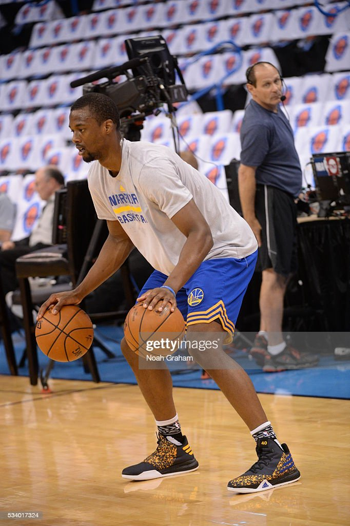 Harrison Barnes #40 of the Golden State Warriors warms up prior to Game Four of the Western Conference Finals between the Golden State Warriors and Oklahoma City Thunder during the 2016 NBA Playoffs on May 24, 2016 at Chesapeake Energy Arena in Oklahoma City, Oklahoma.