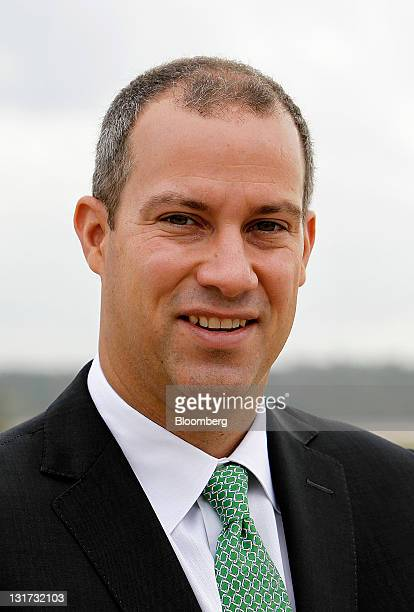 Harrison Dillon president and chief technology officer of Solazyme Inc stands for a photograh at George Bush Intercontinental Airport in Houston...