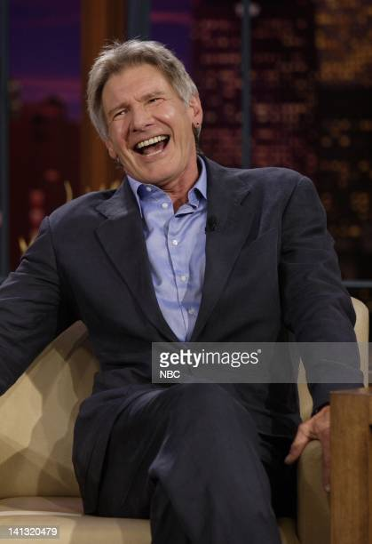LENO Harrison Ford Air Date Episode 3554 Pictured Actor Harrison Ford during an interview on May 9 2008 Photo by Paul Drinkwater/NBCU Photo Bank