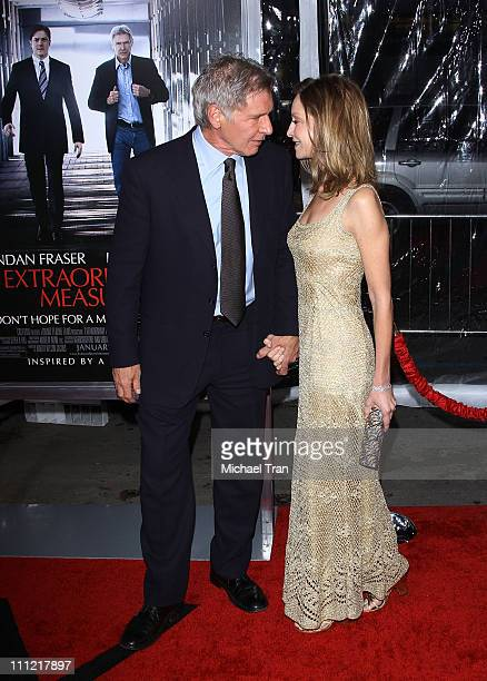 Harrison Ford and Calista Flockhart arrive to the Los Angeles premiere of 'Extraordinary Measures' held at Grauman's Chinese Theatre on January 19...