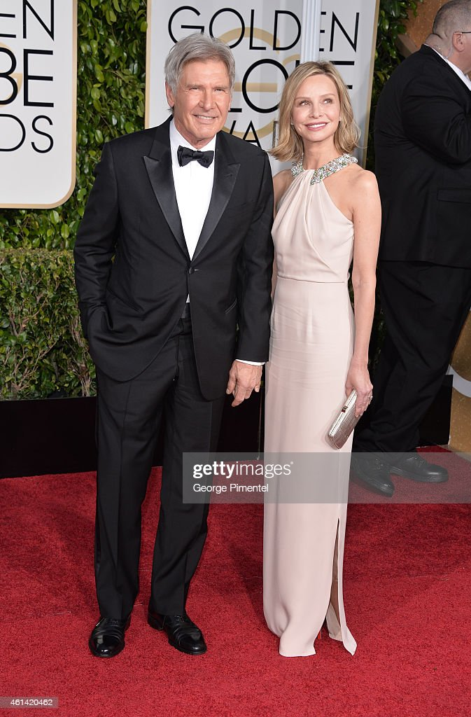 Harrison Ford and Calista Flockhart attend the 72nd Annual Golden Globe Awards at The Beverly Hilton Hotel on January 11, 2015 in Beverly Hills, California.