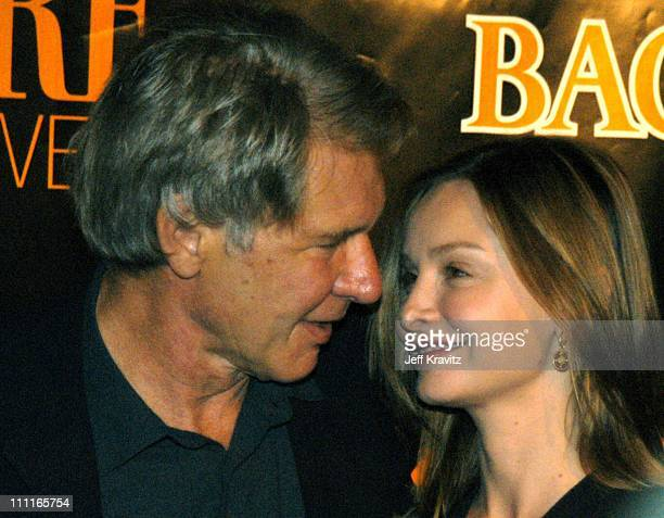 Harrison Ford and Calista Flockhart during Premiere Magazine's The New Power at The Ivar Nightclub in Hollywood California United States