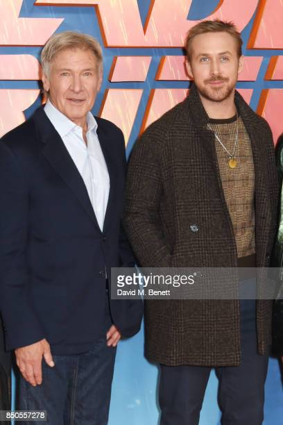 Harrison Ford and Ryan Gosling attend the 'Blade Runner 2049' photocall at The Corinthia Hotel on September 21 2017 in London England