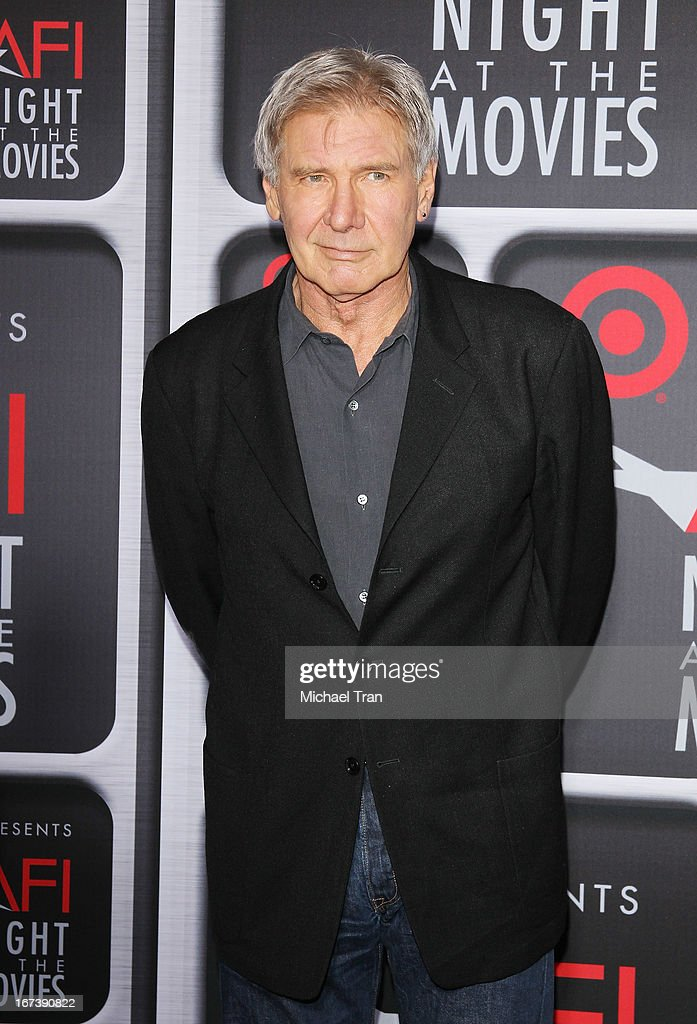 <a gi-track='captionPersonalityLinkClicked' href=/galleries/search?phrase=Harrison+Ford+-+Actor+-+Born+1942&family=editorial&specificpeople=11508906 ng-click='$event.stopPropagation()'>Harrison Ford</a> arrives at the Target presents AFI Night at the movies held at ArcLight Hollywood on April 24, 2013 in Hollywood, California.