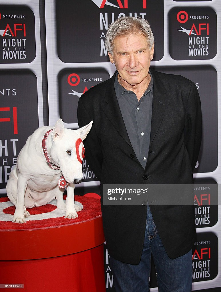 Harrison Ford arrives at the Target presents AFI Night at the movies held at ArcLight Hollywood on April 24, 2013 in Hollywood, California.