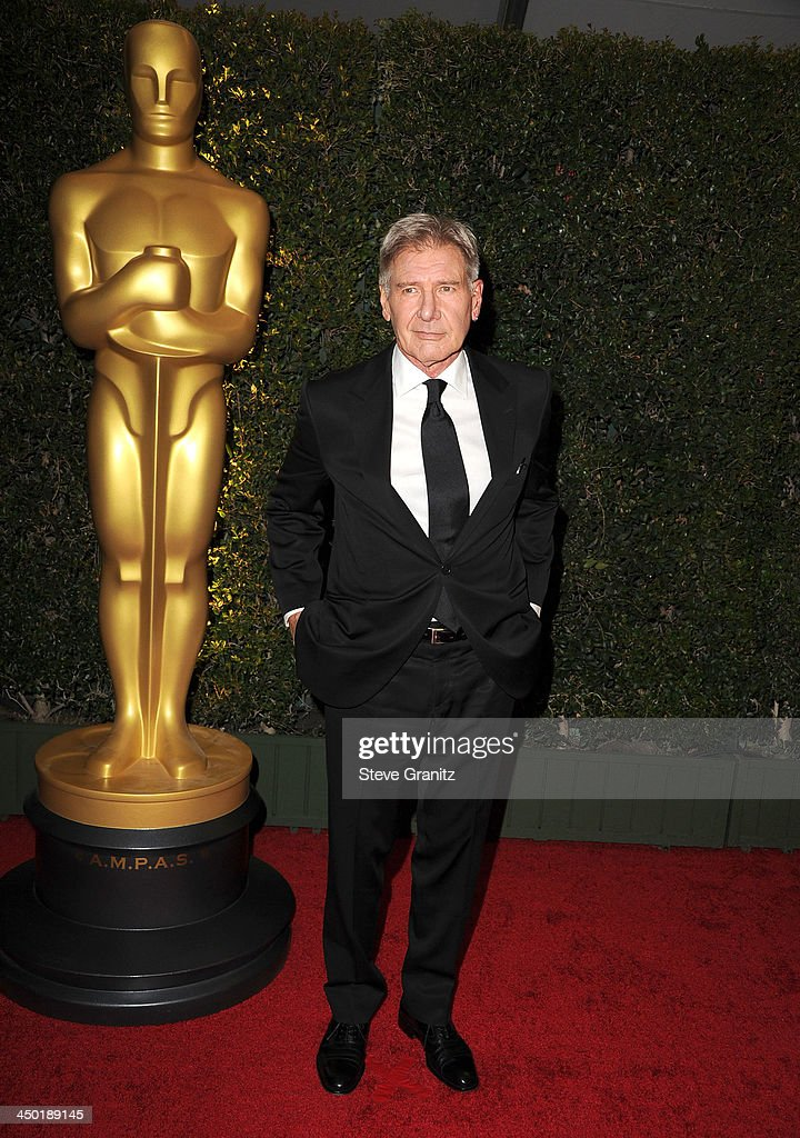 <a gi-track='captionPersonalityLinkClicked' href=/galleries/search?phrase=Harrison+Ford+-+Actor+-+Born+1942&family=editorial&specificpeople=11508906 ng-click='$event.stopPropagation()'>Harrison Ford</a> arrives at the The Board Of Governors Of The Academy Of Motion Picture Arts And Sciences' Governor Awards at Dolby Theatre on November 16, 2013 in Hollywood, California.