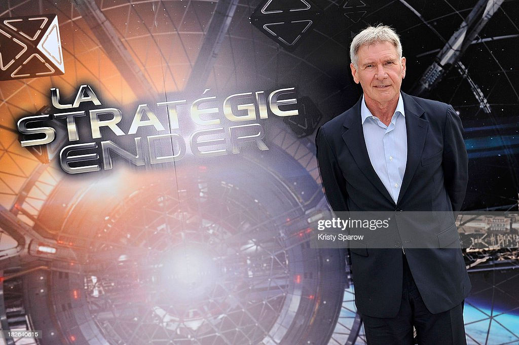 Harrison Ford attends the 'Ender's Game' Photocall at the Mandarin Hotel in Paris on October 2, 2013 in Paris, France.