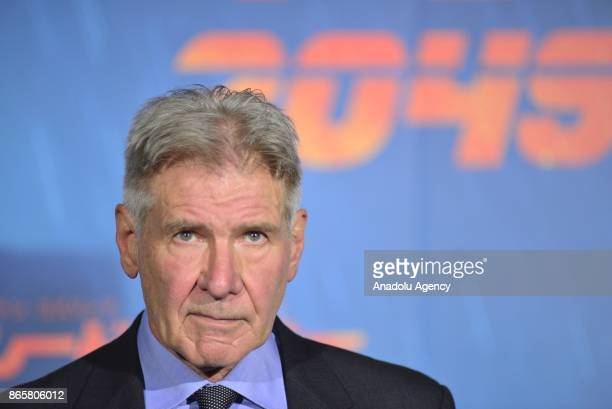 Harrison Ford attends the Premiere of the movie Blade Runner 2049 in Tokyo Japan on October 24 2017