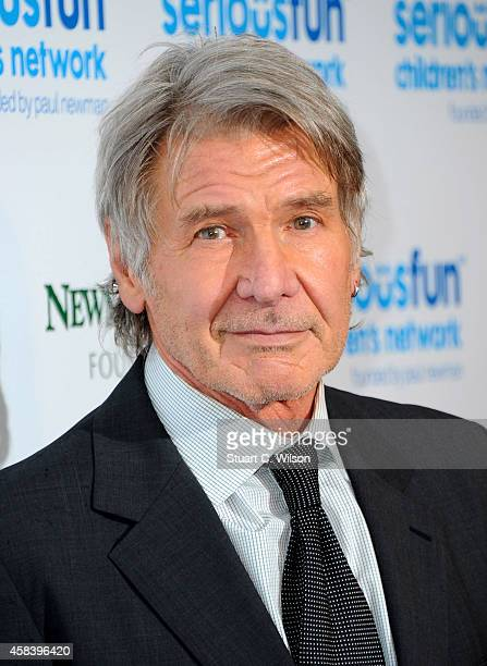 Harrison Ford attends the Serious Fun Gala at The Roundhouse on November 4 2014 in London England
