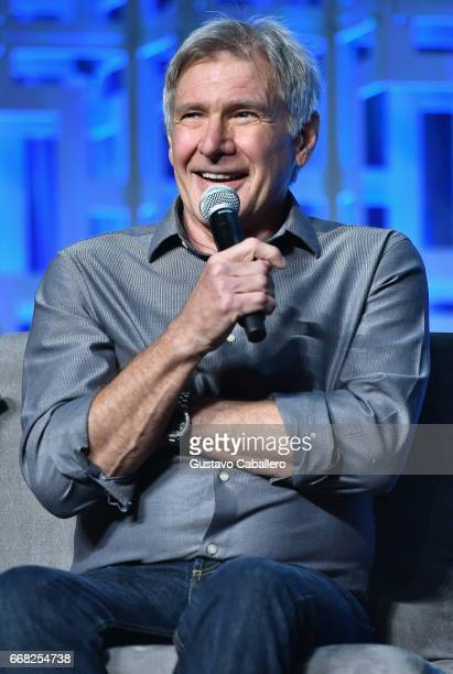 Harrison Ford attends the Star Wars Celebration Day 1 on April 13 2017 in Orlando Florida