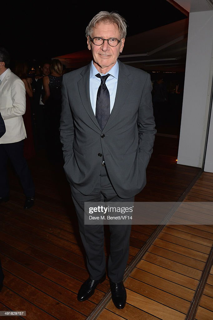 <a gi-track='captionPersonalityLinkClicked' href=/galleries/search?phrase=Harrison+Ford+-+Actor+-+Born+1942&family=editorial&specificpeople=11508906 ng-click='$event.stopPropagation()'>Harrison Ford</a> attends the Vanity Fair And Armani Party at the 67th Annual Cannes Film Festival on May 17, 2014 in Cap d'Antibes, France.
