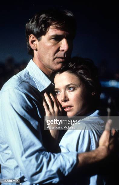 Harrison Ford holds Annette Bening in a scene form the film 'Regarding Henry' 1991