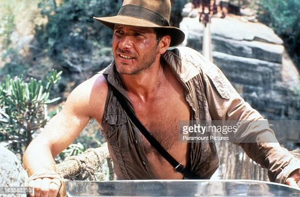 Harrison Ford in a scene from the film 'Indiana Jones And The Temple Of Doom' 1984