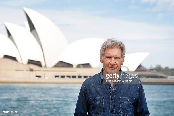 Harrison Ford poses for a portrait at the Park Hyatt on December 9 2015 in Sydney Australia