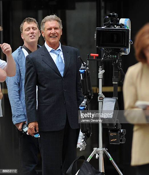 Harrison Ford seen on location for 'Morning Glory' on the streets of Manhattan on June 23 2009 in New York City