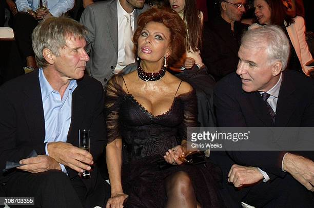 Harrison Ford Sophia Loren and Steve Martin during Giorgio Armani Receives The First Rodeo Drive Walk Of Style Award at Rodeo Drive Walk Of Style in...