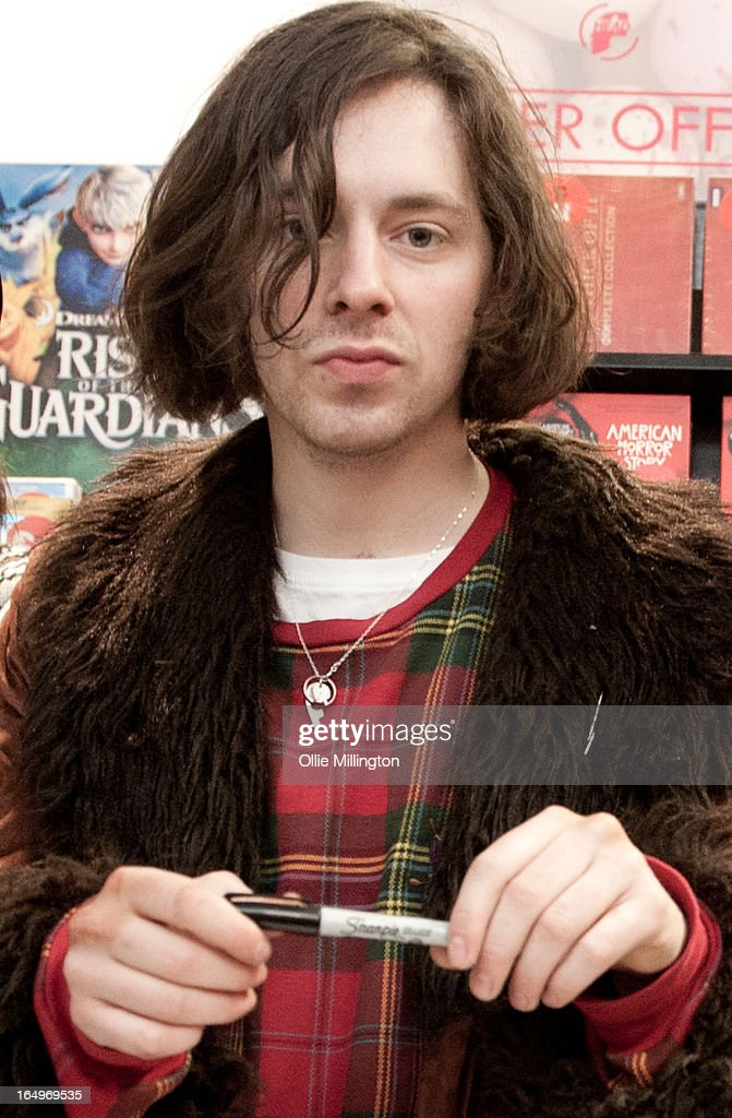Harrison Koisser of Peace poses for a photograph after their instore gig at Head Records to promote the release of their debut album 'In Love' on March 29, 2013 in Leamington Spa, England.