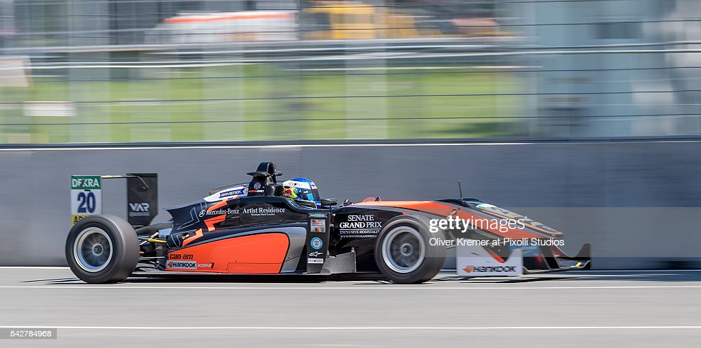 Harrison Newey (GBR) of FIA Formula 3 Team van Amersfoort Racing during a free practice session in preparation for the upcoming 2016 FIA Formula 3 European Championships at the Norisring during Day 1 of the German Touring Car Championship 2016 - Session 4 on June 24, 2016 in Nuremberg, Germany.