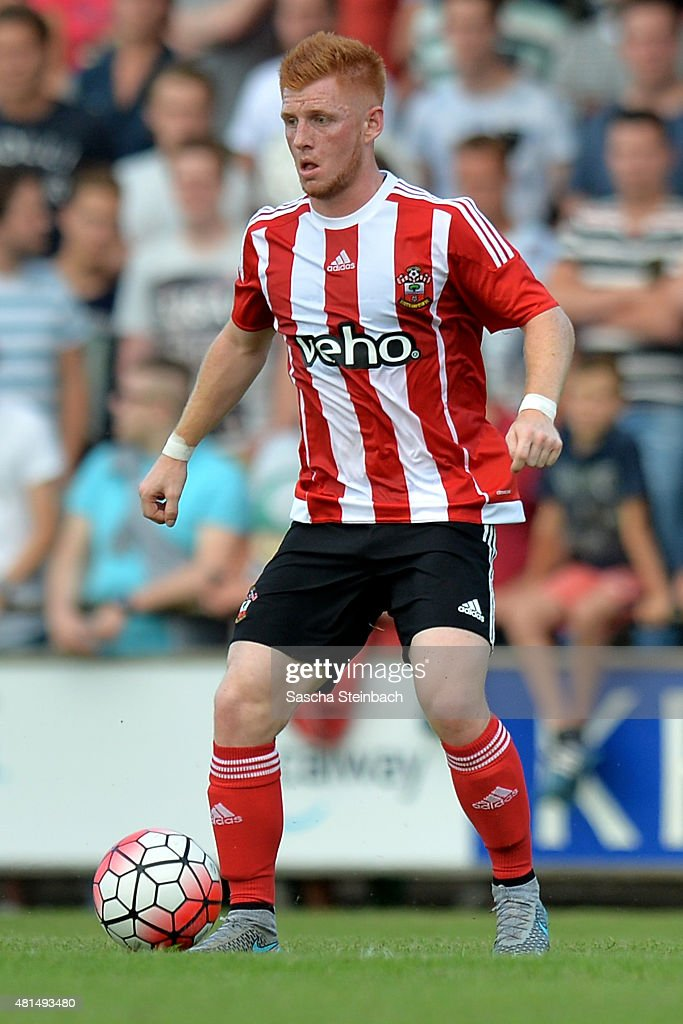 Harrison Reed of Southampton runs with the ball during the friendly match between KVV Quick 1920 and FC Southampton at Sportpark De Vondersweijde on July 21, 2015 in Oldenzaal, Netherlands.
