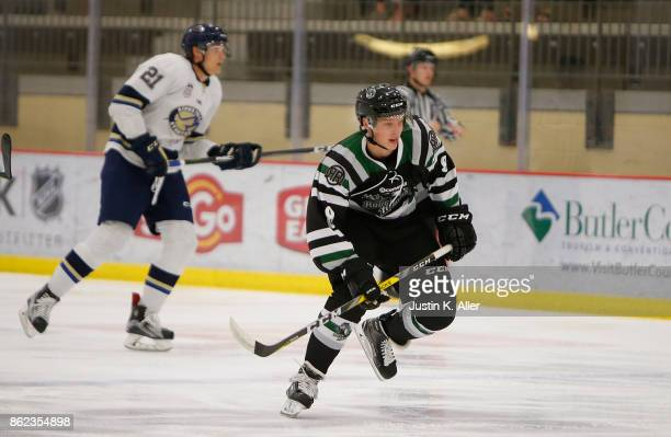 Harrison Roy of the Cedar Rapids RoughRiders skates during the game against the Sioux Falls Stampede on Day 2 of the USHL Fall Classic at UPMC...